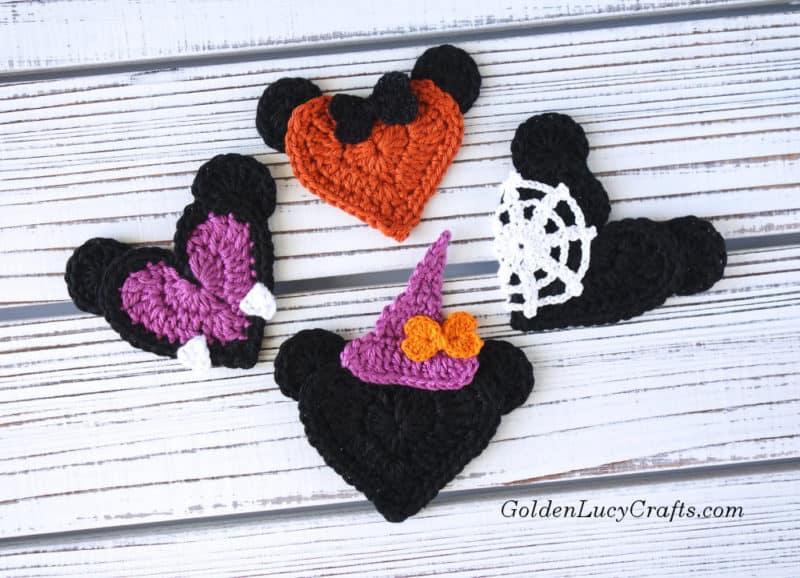 Crochet Halloween Mickey and Minnie