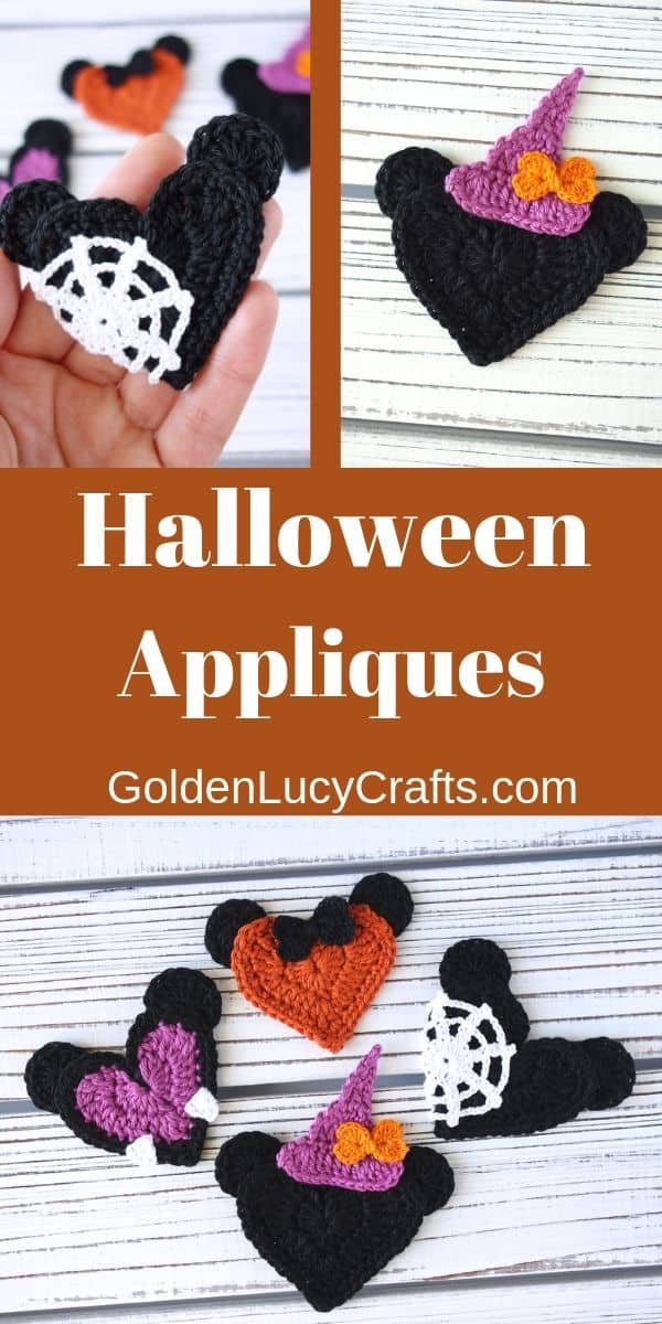 Crochet Halloween appliques, decorations, ideas - free crochet pattern