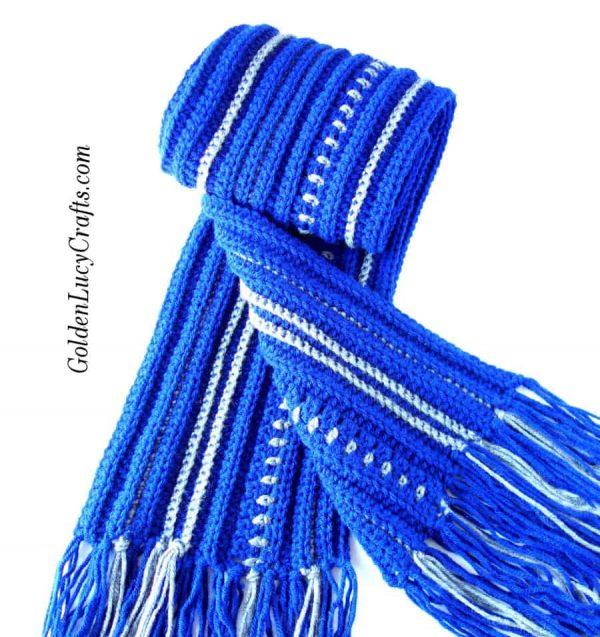 Mens scarf crochet pattern, free crochet pattern