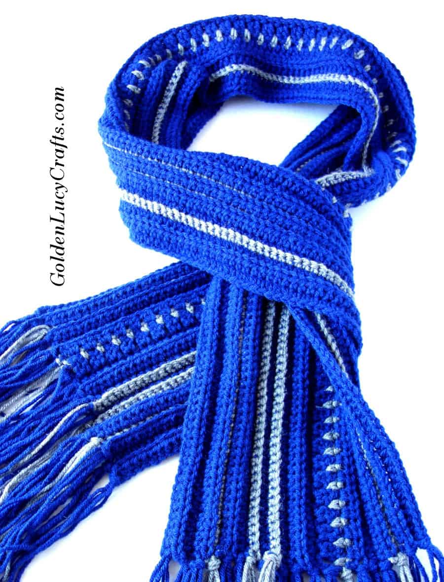 Mens Scarf Free Crochet Pattern Goldenlucycrafts