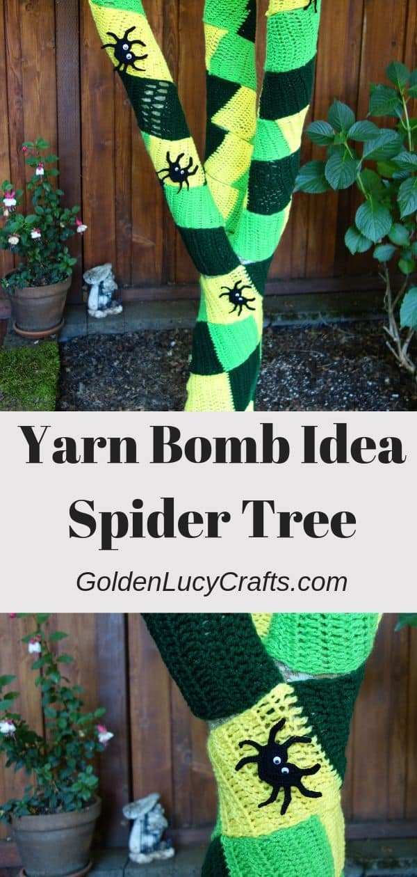Yarn bomb idea, yarn graffiti