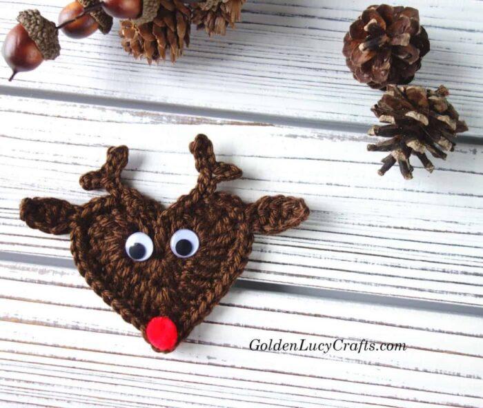 Crochet Reindeer Applique