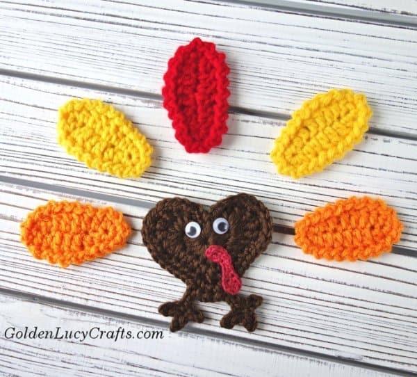 Crochet Turkey applique