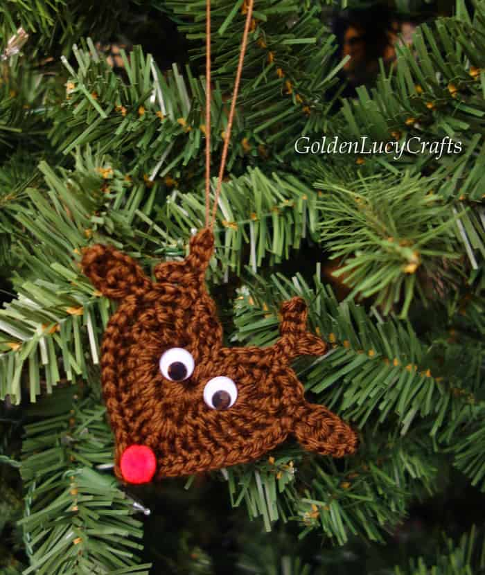 Crochet Reindeer Christmas ornament