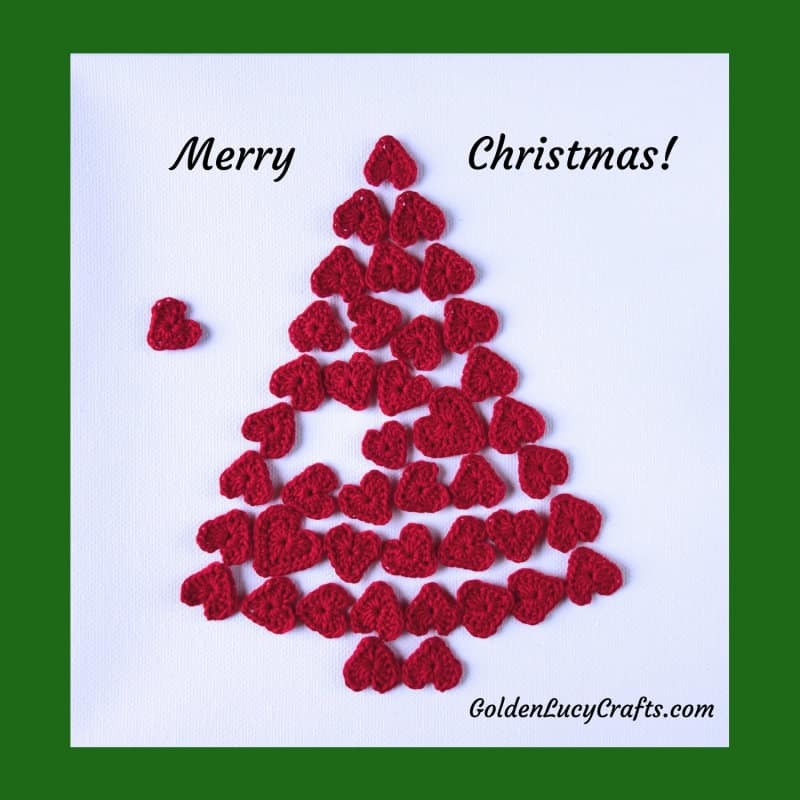 Christmas Tree wall art, Christmas home decor, Christmas heart tree