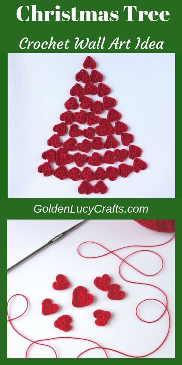 Christmas crochet wall art idea