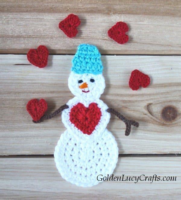 Crochet ornament snowman