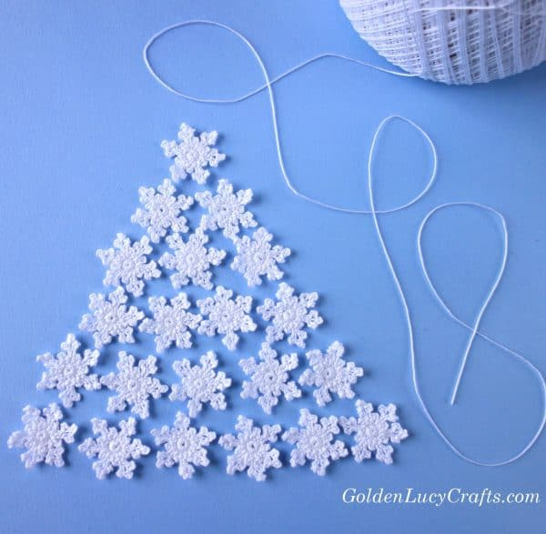 Crochet small snowflakes, crochet pattern, Christmas crochet