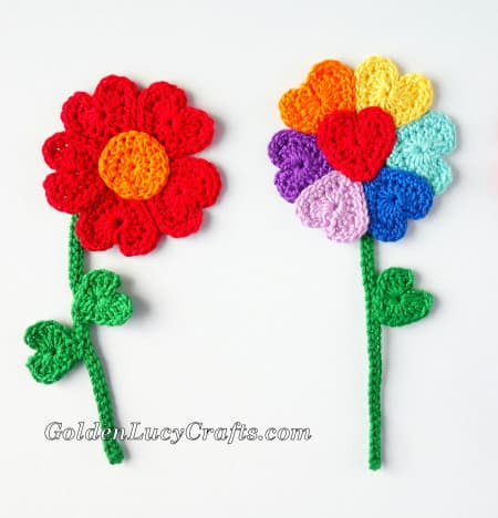 Crochet Valentine's Day Appliques Collection