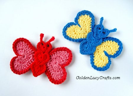 Crochet Valentine's Day Appliques Collection - Crochet Butterfly