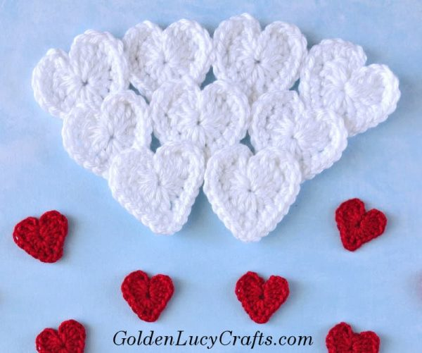 Crochet Valentines Day project, Rain of Hearts