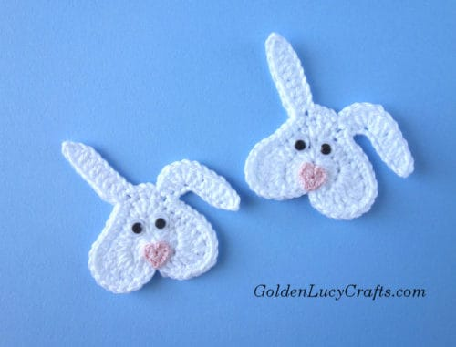 Crochet bunny , heart-shaped bunny