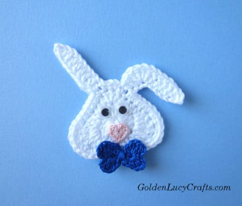 Crochet bunny pattern free, heart-shaped bunny