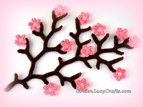 Cherry blossom branch - spring flowers collection