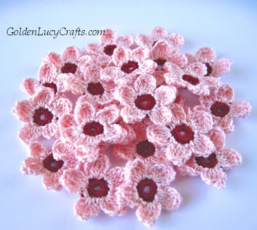 Crochet Cherry blossoms - spring flowers crochet pattern collection