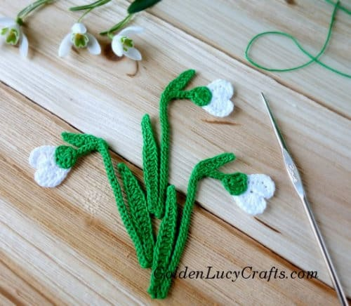 Crochet Snowdrop - spring flowers crochet patterns collection