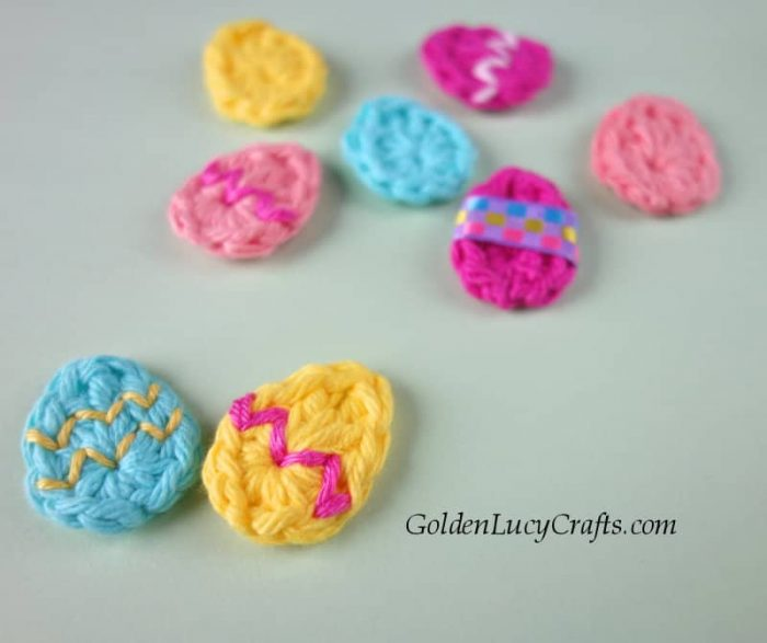 Easter crochet eggs applique