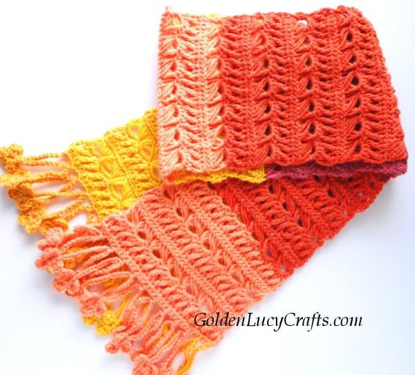 Crochet women's scarf