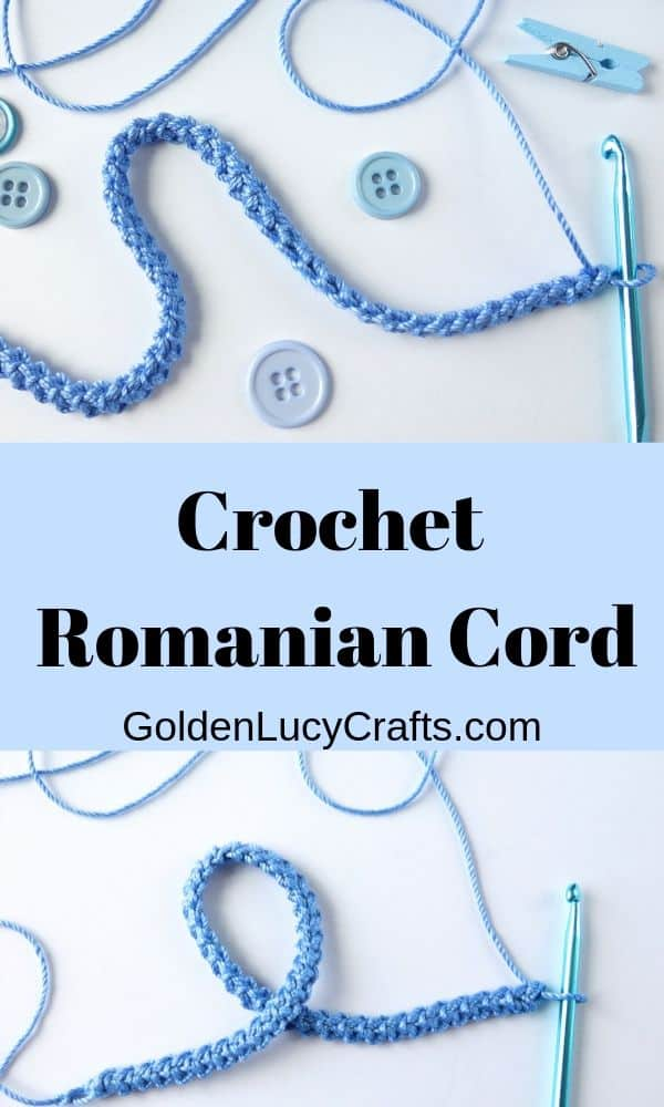 Crochet Romanian cord, how to crochet Romanian cord, crochet ribbon, crochet stitches, crochet tutorial, crochet projects