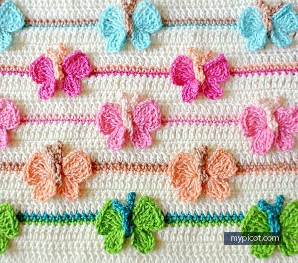 Butterfly stitch - part of butterfly free patterns collection