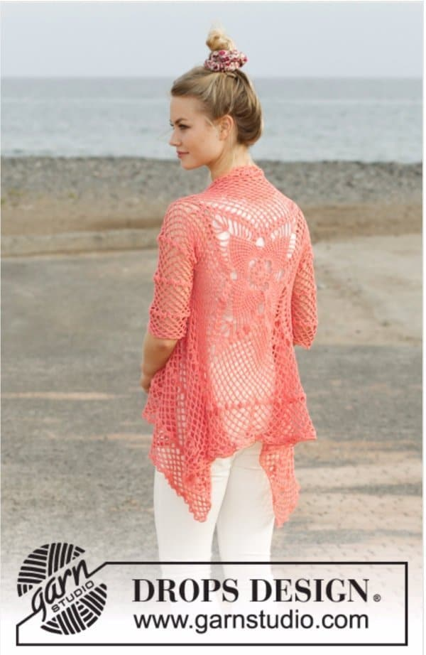 Crochet Butterfly jacket - part of butterfly free patterns collection