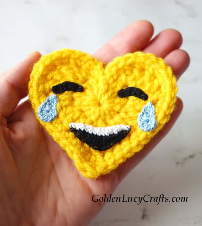 Crochet Emoji Tears of Joy