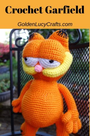 Crochet Garfield, Garfield crochet pattern