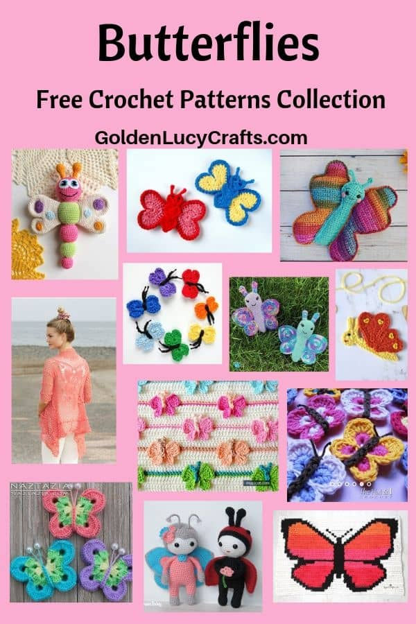 Crochet butterfly free patterns collection