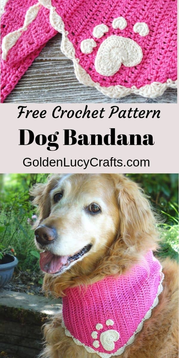 How to crochet dog bandana, free crochet pattern