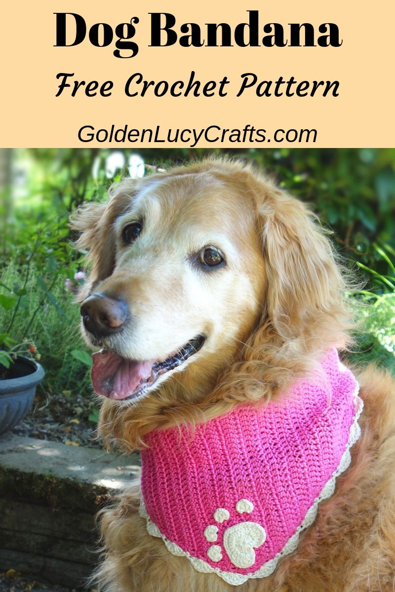 Crochet dog bandana, dog bandana free crochet pattern