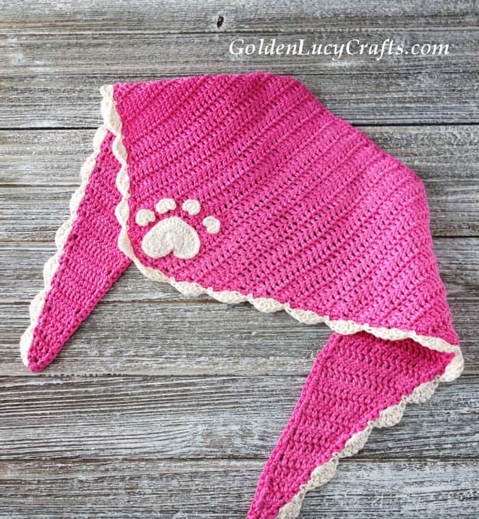 Crochet for dogs, bandana for dog