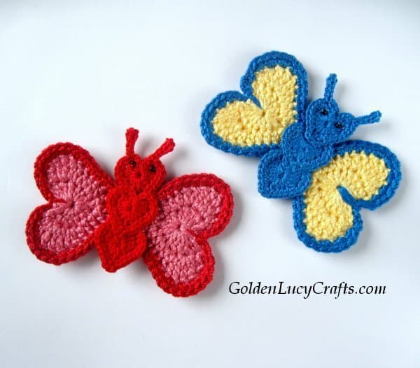 Crochet butterfly - part of butterfly free patterns collection