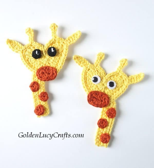 Crochet applique animals