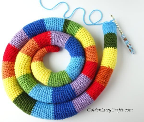 Crochet snake free pattern, amigurumi crochet snake