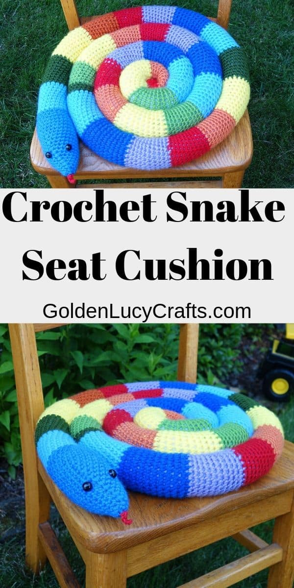 Crochet seat cushion pattern, chair cushion