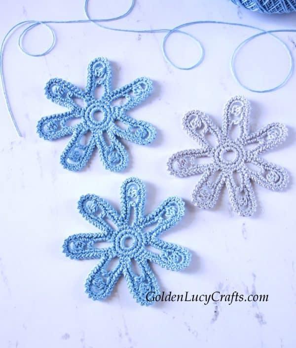 Crochet flower, free crochet pattern