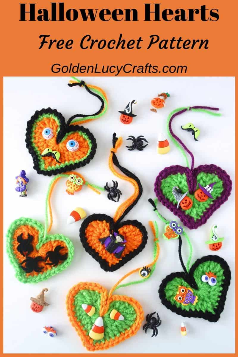 Crochet Halloween decorations, ornaments