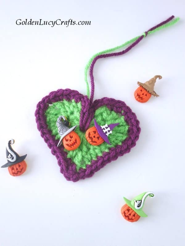 Crochet Halloween tree decorations, ornaments