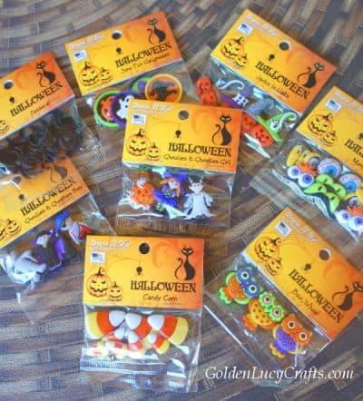 Halloween buttons for crochet Halloween hearts