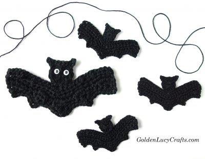 Crochet Bat applique