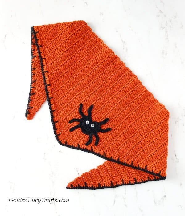 Halloween bandana for pet, dog bandana, DIY, free crochet pattern