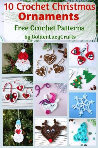 Crochet Christmas Ornaments free patterns