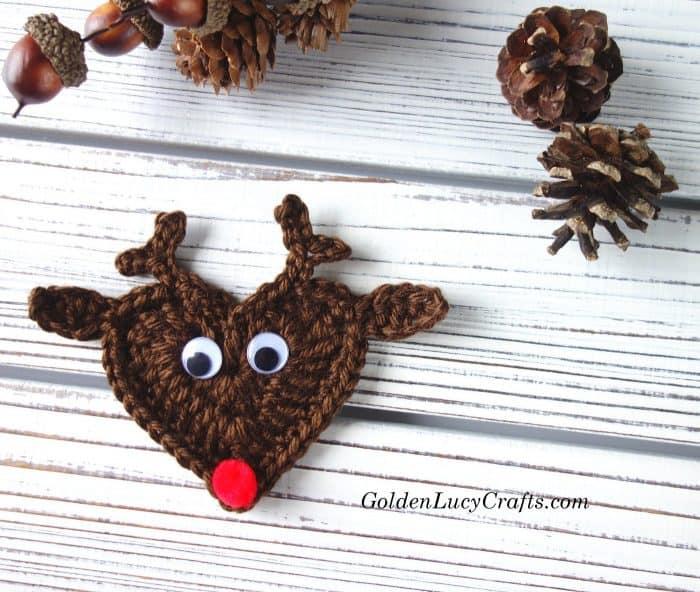 Crochet Christmas ornaments, Reindeer ornament