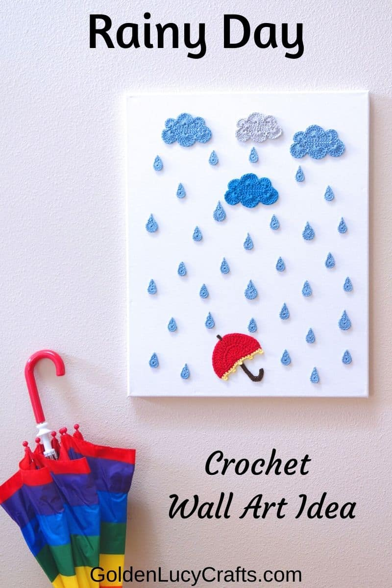 Rainy Day - crochet wall art idea