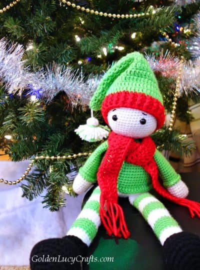 Crochet Christmas Elf, crochet toy, Christmas, crochet amigurumi