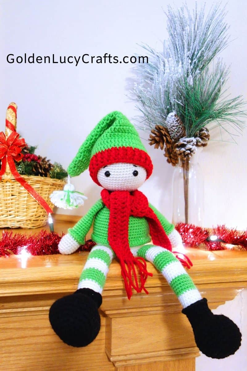 Crochet Elf on the shelf, crochet toy, Christmas crochet, amigurumi