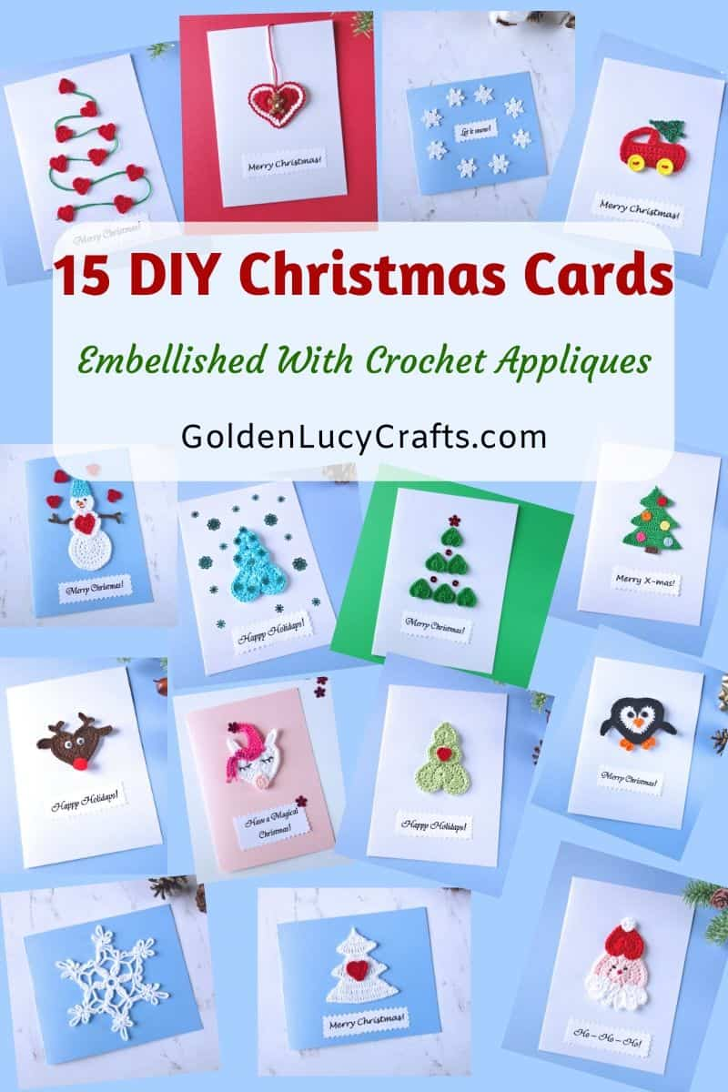 15 Diy Christmas Card Ideas Handmade Christmas Cards Goldenlucycrafts