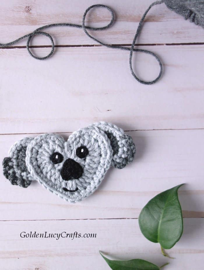 Crochet koala applique