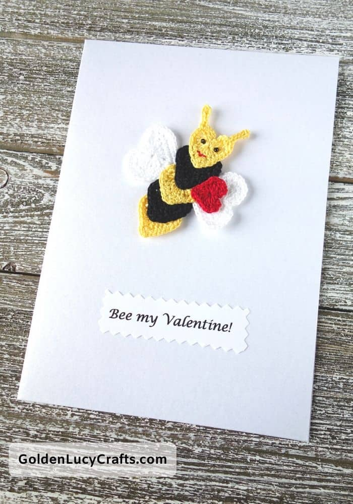 Valentine's Day handmade card, Bee my Valentine, DIY Valentines card ideas