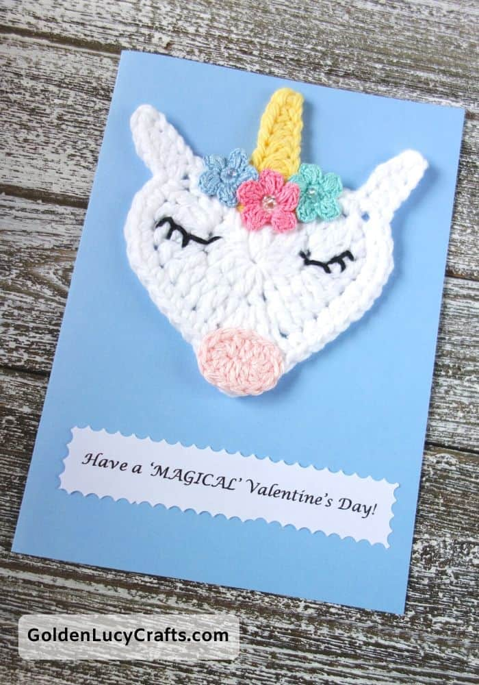 Valentine's Day handmade card, Have a magical Valentine's Day, DIY Valentines card